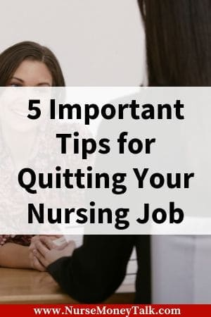 a nurse talking to her boss about quitting