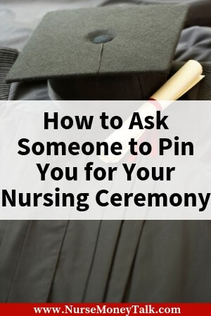 Find out how to ask someone to pin you for your nurse pinning ceremony. For the nursing student that's about to graduate. #nursingstudent