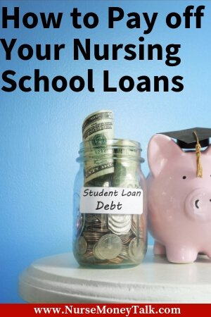 a piggy bank that says student loan debt
