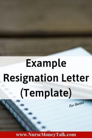 a pen and paper with the wording example resignation letter template