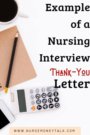 pencil and paper to write a thank you letter after a nursing interview