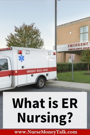 An EMSA truck parked outside the emergency room