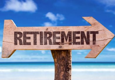 a sign that says retirement