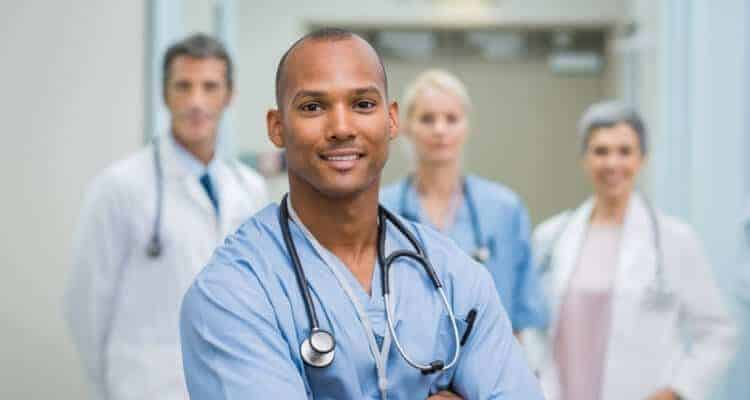 a picture of a male nurse