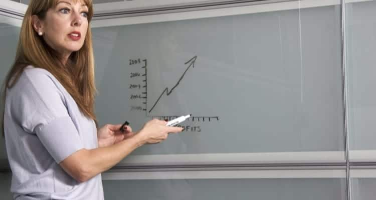 a nursing instructor teaching