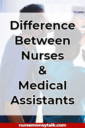 a nurse and a medical assistant talking
