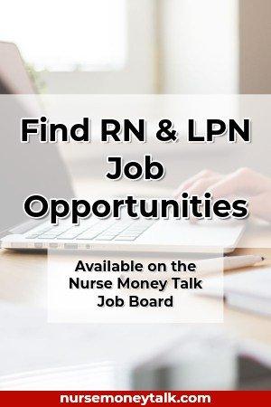 a nurse searching for a nursing job