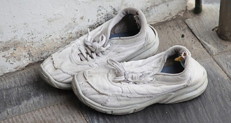 an old nurse shoes