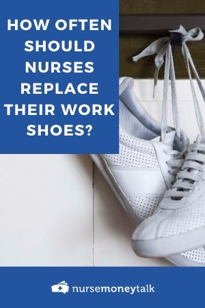 a nurse shoe that probably needs to be replaced