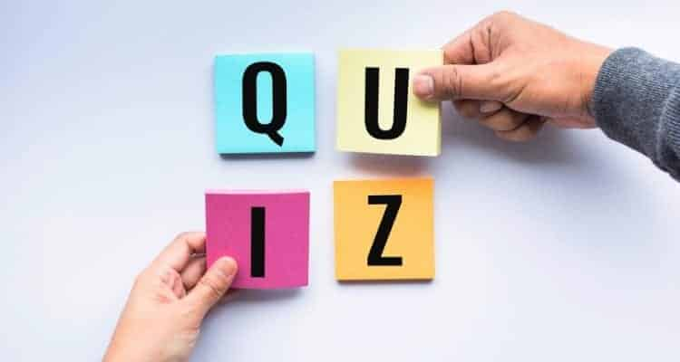 letters that spell out the word quiz
