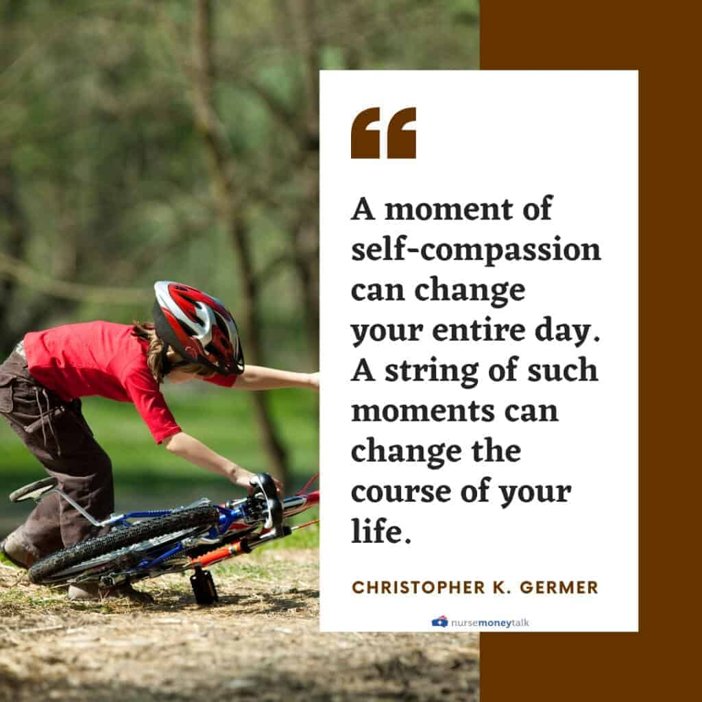 Christopher K. Germer quote on having self-compassion can change your day and moments changing your life.