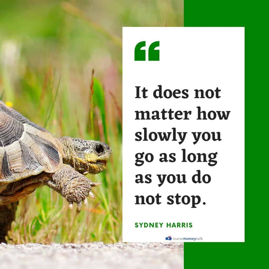 Confucius quote on not stopping even if you're going slowly