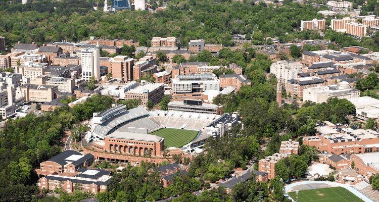 Skyscraper view of University of North Carolina at Chapel Hill