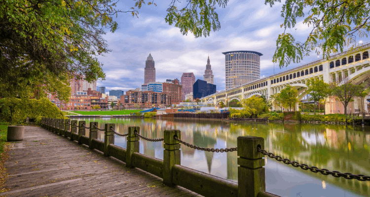 River view of Cleveland, Ohio