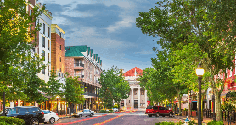 Street view of Gainesville, Florida