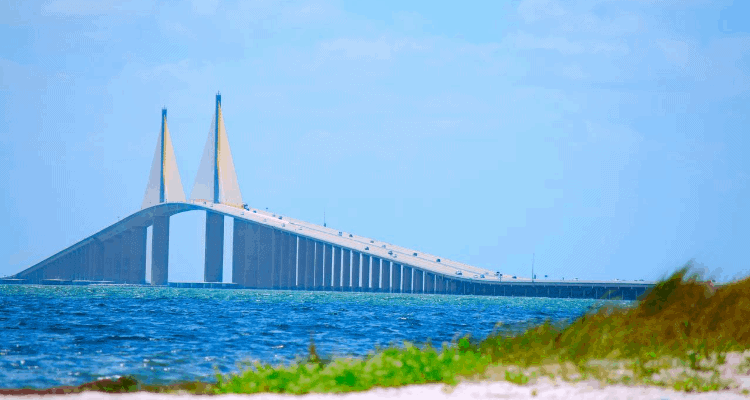 Beach view in Tampa, Florida
