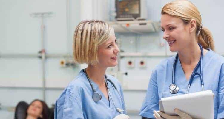 talking to nurse preceptor