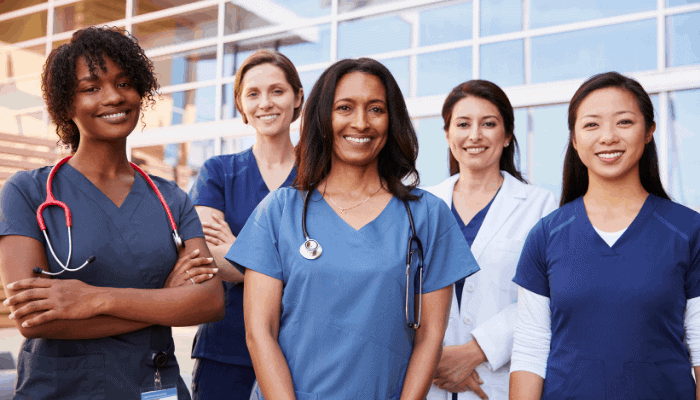 female healthcare colleagues